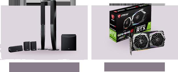YAMAHA/ヤマハ NS-PA41-B(ブラック)スピーカーパッケージ / MSI GeForce RTX 2060 GAMING Z 6G グラフィックスボード