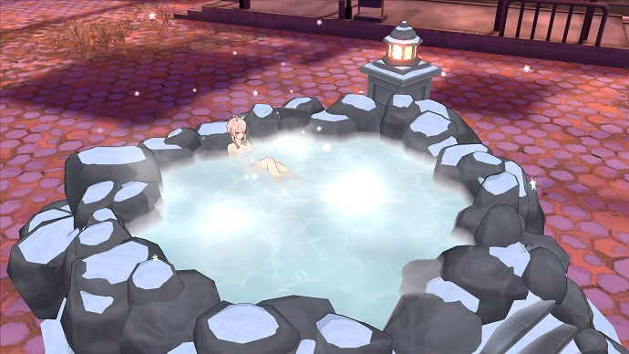 白冬の温泉